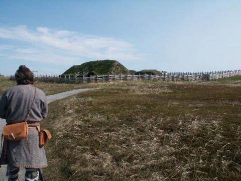 ヴァイキングの定住地跡とみられる、カナダのランス・オ・メドー遺跡