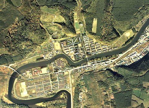 網走刑務所の航空写真